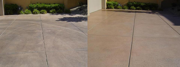 driveway cleaning before and after